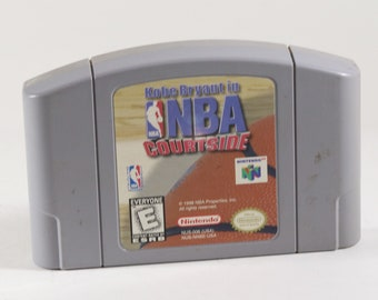 Vintage Nintendo 64 Kobe Bryant in NBA Courtside, N64 Game
