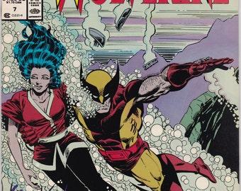 Vintage Comic Book, Wolverine, Number 7, 1988, Marvel Comics Presents