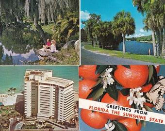 Vintage Postcard Bundle 4 Cards 1970's Florida