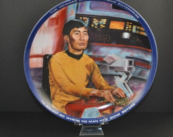 Vintage Star Trek Mr. Sulu Helmsman Plate, Hamilton Collection 1983, Star Trek The Original Series