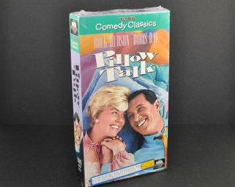 Vintage VHS Tape Pillow Talk 1959 Remake starring Rock Hudson & Doris Day