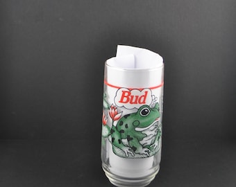 Vintage Budweiser Beer Frogs Beer Glass, 16oz Glass, 1995, Budweiser Frogs, Anheuser Busch, Frog Beer Glass, Frog Glass, Budweiser, Bier
