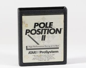 Vintage Atari 7800 Game, Pole Position II, Namco, 1983