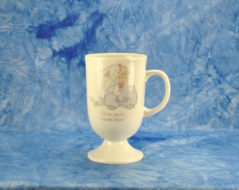 "Vintage Precious Moments ""On Our Way To A Sweet Forever"" 1984 Ceramic Coffee / Tea Mug - Samuel J. Butcher - Drinking Cup - Children - Glass"