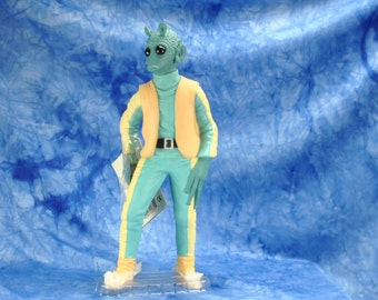 "Vintage Star Wars Action Figure 10"" Geedo Vinyl Doll, 1990s, Shadow Of The Empire, Applause Figure, Star Wars Figure"