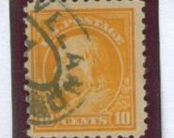 Vintage Stamp 1916 United States Ben Franklin 10 Cent, Scott 472
