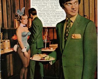 Vintage Sears The Men's Store, Men's Clothing, Original Magazine Advertisement 1969