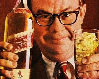 Vintage Print Art, Beefeater Gin, Original Magazine Print Advertisement 1960s