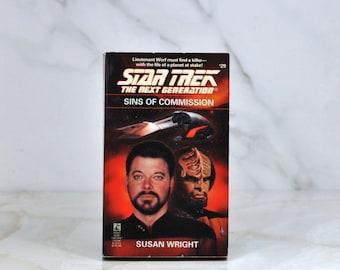 Vintage Star Trek: The Next Generation - Sins Of Commission #29 - 1994 -  Paperback - Science Fiction - Gene Roddenberry - Riker - Worf