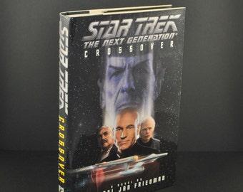 Star Trek The Nest Generation Crossover Hardback 1995 - Hardback - Ambassador Spock - Romulan  - Vulcan - Starfleet - Enterprise - Picard