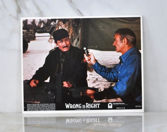 Vintage The Movie Wrong Is Right 8x10 Color Lobbycard, 1982, Sean Connery, News Reporting, Covert Agencies, Nuclear Weapons, Newsman, TV