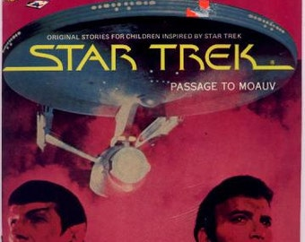 Vintage 1979 Star Trek Book & Record - Passage To Moauv
