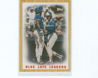 Vintage Baseball Card 1987 Blue Jays Leaders 105, Toronto Blue Jays, TOPPS