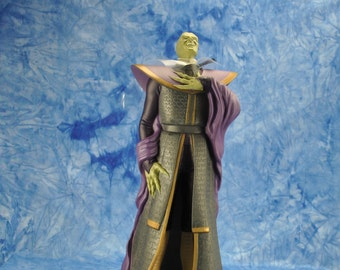 "Vintage Star Wars Action Figure 10"" Prince Xizor Vinyl Doll, 1990s, Shadow Of The Empire, Applause Figure"