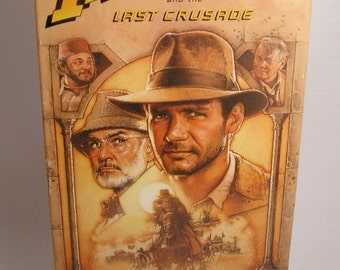 Vintage VHS Tape Indiana Jones and The Last Crusade 1989 starring Harrison Ford, VHS Movie