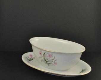 Vintage Princess China Gravy Bowl, Bolero Pattern