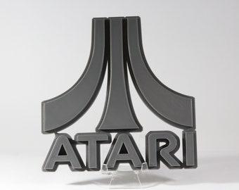 Retro Atari Logo 3D Print PLA Filament, 3D Print, Atari Games, Wall Ornament, Room Decoration, Gamer decoration