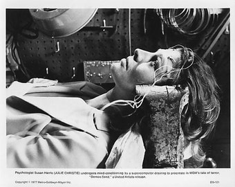 Vintage Photograph Julie Christie in Demon Seed 1977, 8x10 Black & White Promotional Photo