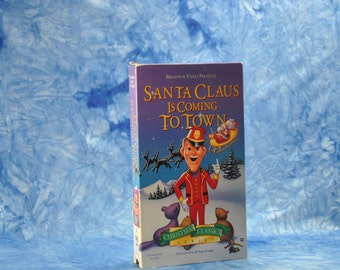 Vintage VHS Tape Santa Claus Is Coming To Town 1970 - Fred Astaire - Mickey Rooney - Keenan Wynn - Paul Frees - Joan Gardner - Robie Lester