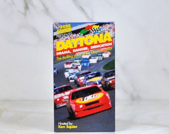 Vintage Daytona Host Ken Squier VHS Tape 1992 - CBS Sports - CBS Video - Nascar - Racing - Race Cars - Daytona 500 - Daytona Beach - Racing
