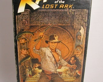 Vintage VHS Tape Raiders of the Lost Ark 1981 starring Harrison Ford