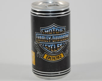 Vintage Beer Can, Harley Davidson, Beer, Pabst Blue Ribbon Beer, Limited Edition