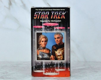 Vintage VHS Tape Star Trek The Original Series TV Episode 76 Requiem For Methuselah Airdate February 1969 Paramount Pictures - Kirk