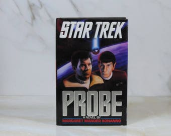 Vintage Probe, Hard Back, Book, Star Trek, 1992, Margaret Wander Bonanno, Hardback, USS Enterprise, Star Trek IV, Captain Kirk, Mr Spock