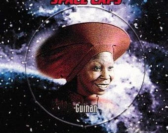 Vintage Star Trek The Next Generation Playmates Space Caps Trading Card 1994 Guinan No 4 - Bartender - Ten Forward - El-Aurian - Listener