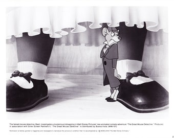 Vintage Disney The Great Mouse Detective 1986 Promo Photographs 6 Photos 8x10 Black and White Photographs Pack 3