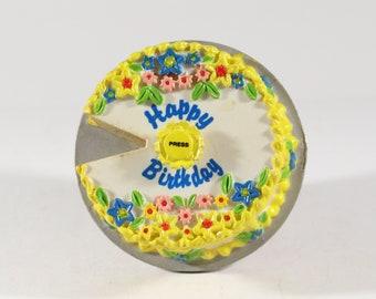 Vintage Magnet, Happy Birthday, Refrigerator Magnet