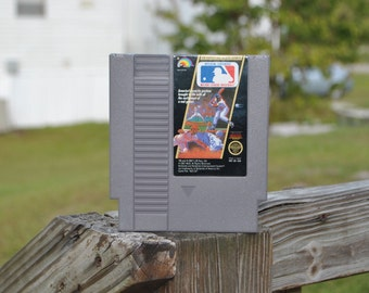 Vintage Nintendo Game Major League Baseball, 1988, Pitcher, Catcher, First Base, Home Base, Home Run, Baseball Season, Hotdog, Baseball Team