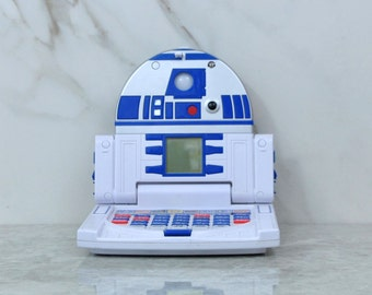 Vintage Star Wars Electronic Jr Learning Laptop R2 D2 Hand Held Childrens Electronic Game