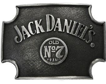 Jack Daniels No. 7 Sign Metal Belt Buckle Black 4x3