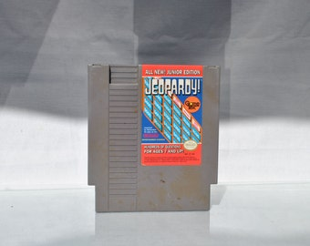 Vintage Nintendo Game Jeopardy Junior Edition (NES) Data East 8 bit 1988 - Trivia - Television - Contest - Word Puzzle - Game Show - TV