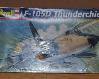 Vintage Revell-Monogram F-105D Thunderchief 1:48 scale, Authentic Scale Model, Factory Sealed