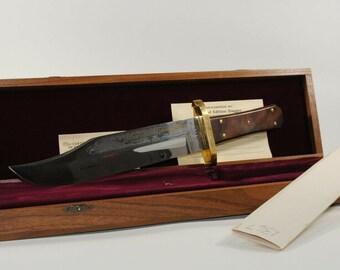 Vintage Harley Davidson Buck Knife With Presentation Box COA and Cardboard Shipping Sleeve