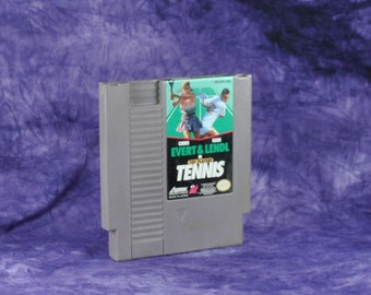 Vintage Nintendo Game Top Players Tennis Asmik 1989, NES, Video Game, Console Game, Vintage Game, Vintage Nintendo, Vintage NES, Sports Game