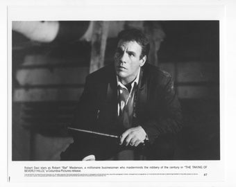 Vintage Photograph Robert Davi Harley in The Taking Of Beverly Hills 1991, 8x10 Black & White Promotional Photo, Movie Star Photograph