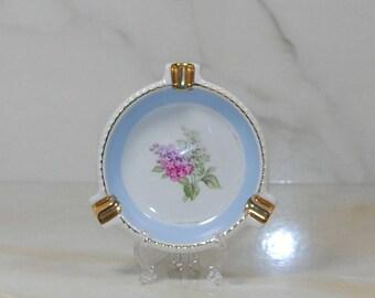 Vintage Porcelain Ashtray Lilac Time, Schumann Arzberg Germany