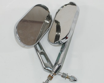 Vintage Mirrors Left and Right taken from 1998 Harley Davidson Wide Glide Chrome