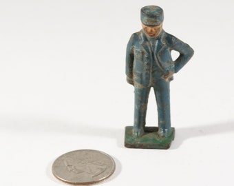 Vintage Barclay Manoil Lead Figure, Train Conductor, 1950s