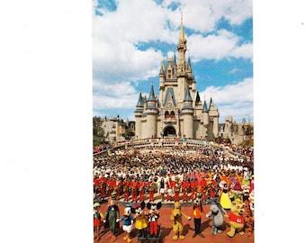 Vintage Postcard, Walt Disney World, Cinderella Castle, 1972
