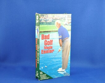 Vintage VHS Leslie Nielsen's Bad Golf Made Easier VHS Tape, 1993