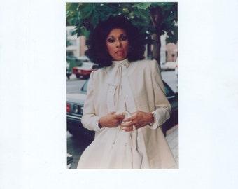 Vintage Photograph, Diahann Carroll, 4x4 Color, Movie Star Photo