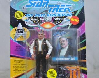 Vintage Star Trek Action Figure Captain Scott 6070 6033 1994 Next Generation, Playmates Figure