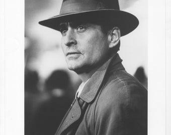 Vintage Photograph Michael Douglas from Shining Through 1992, 8x10 Black & White Promotional Photo