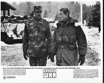 Vintage Photograph, The Fourth War 1980 with Roy Scheider / Tim Reid, 8x10 Black & White Promotional Photo, Movie Star Photo, Hollywood