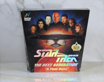 Vintage Star Trek, A Final Unity, Computer Game, The Next Geneation, 1995, Adventure Game, Spectrum HoloByte, Star Trek Universe, Picard