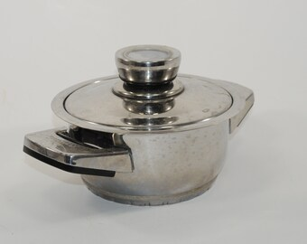 Vintage BergHOFF 18/10 Edelstahl Stainless Steel Sandwich Boden With Temperature Lid Lifetime Warranty